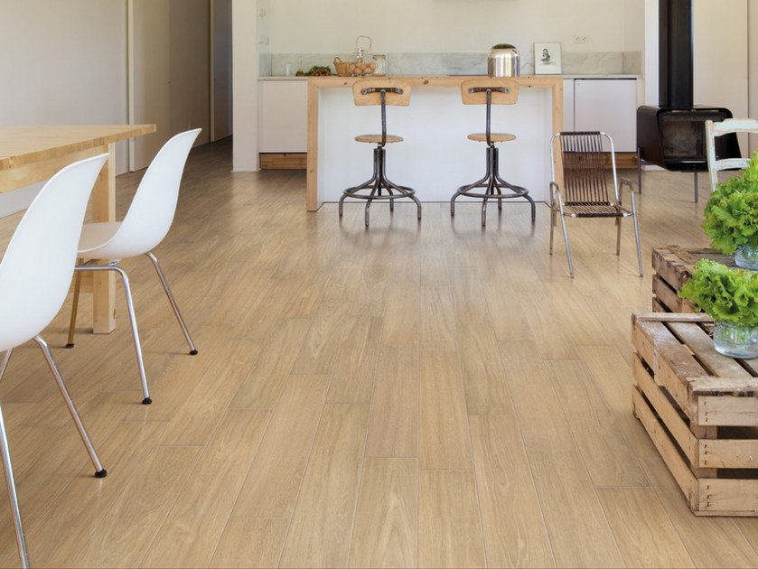 Porcelain stoneware flooring with wood effect TRAIL by Ceramiche Refin