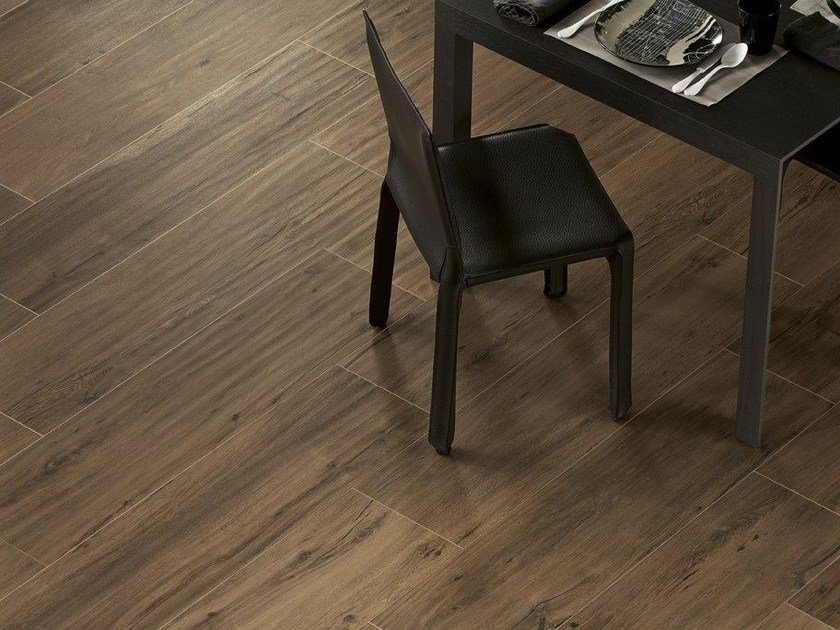Porcelain stoneware flooring with wood effect ROOT by Ceramiche Caesar