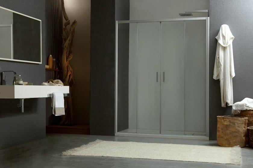 2 places niche shower cabin with sliding door MORE LIVE P2S by MEGIUS