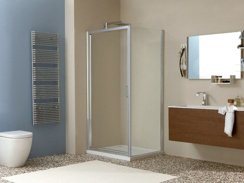 Corner shower cabin LIVE F by MEGIUS