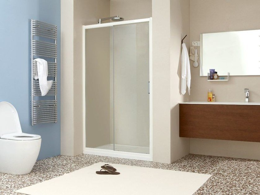 Niche shower cabin with sliding door LIVE P1S by MEGIUS