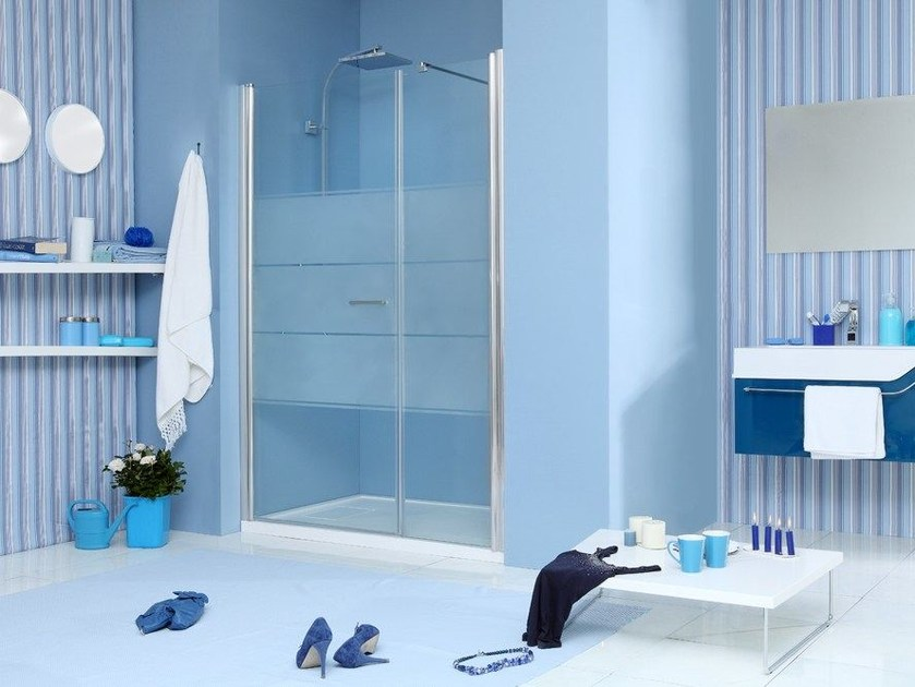 2 places niche shower cabin with hinged door WEB 1.0 B1F by MEGIUS