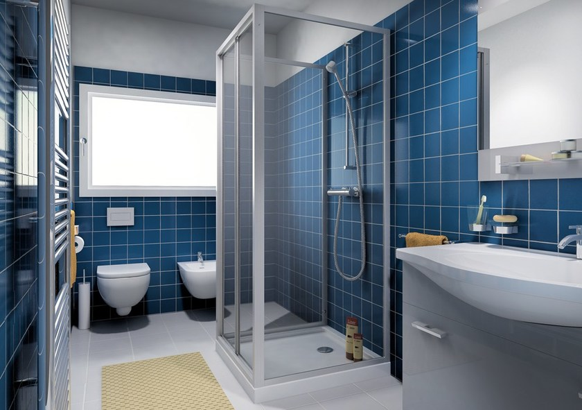 Shower cabin with sliding door CLASSIC P1S by MEGIUS