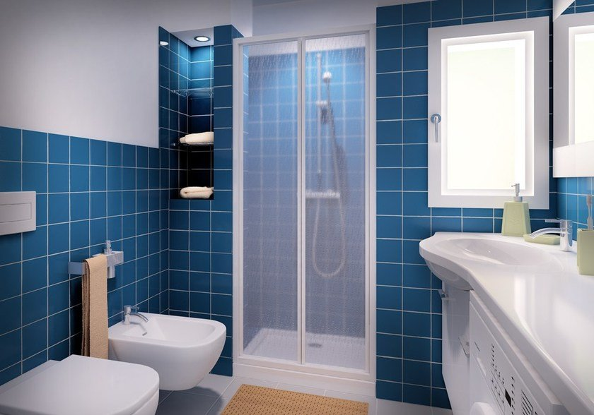 Niche shower cabin with folding door CLASSIC SOF by MEGIUS
