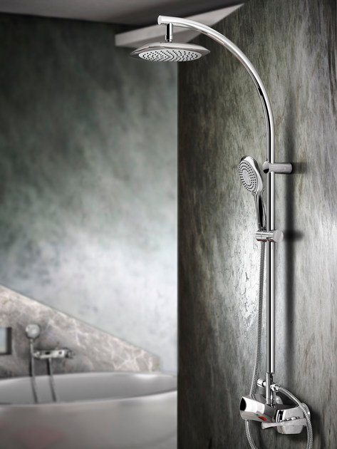 Shower panel with hand shower ICARUS | Shower panel by Gattoni Rubinetteria
