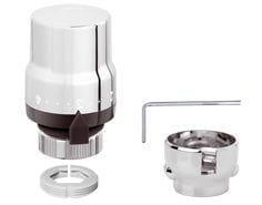 Comando termostatico per HIGH-STYLE con sensore incorporato, finitura cromata lucida