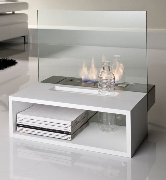 Bioethanol open vent free fireplace REFLEX | Bioethanol fireplace by Italy Dream Design