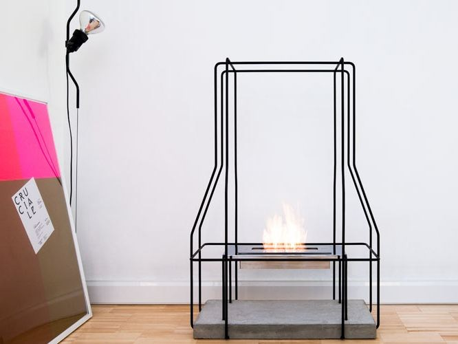 Bioethanol open vent free fireplace WIREPLACE | Open fireplace by Italy Dream Design