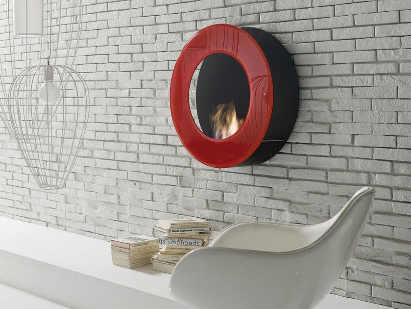 Bioethanol wall-mounted vent free fireplace CIRCLE by Italy Dream Design