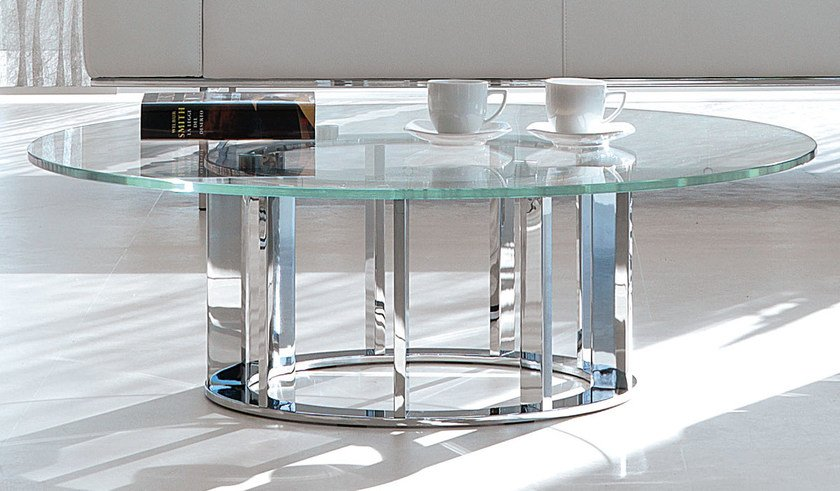 Low round coffee table NAXOS | Round coffee table by Italy Dream Design