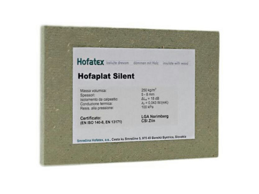 Wood fibre thermal insulation panel HOFATEX® SILENT by NORDTEX