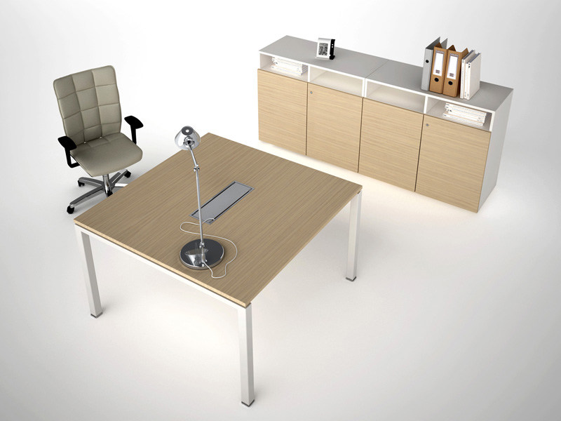 Wood-product meeting table with cable management ASTERISCO IN | Meeting table by ESTEL GROUP