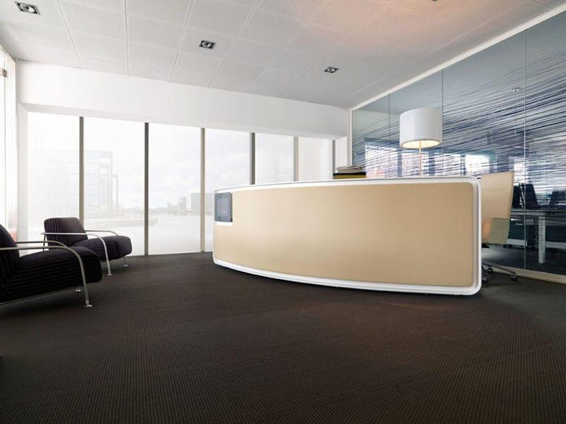 Laminate Office reception desk VEGA by ESTEL GROUP