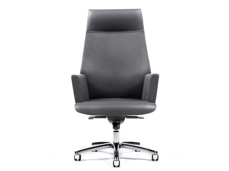 Swivel leather executive chair TUA | Executive chair by ESTEL GROUP