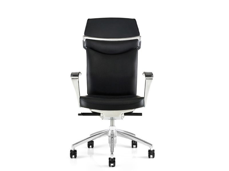 Leather executive chair with headrest UNIQA | Executive chair by ESTEL GROUP