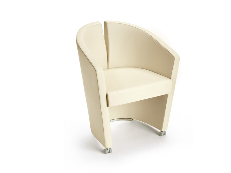 Upholstered guest chair PODIUM | Easy chair by ESTEL GROUP