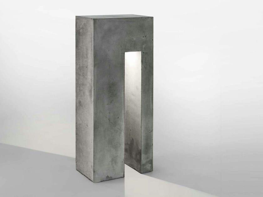 LED cement bollard light MONOLYTE by LUCIFERO'S