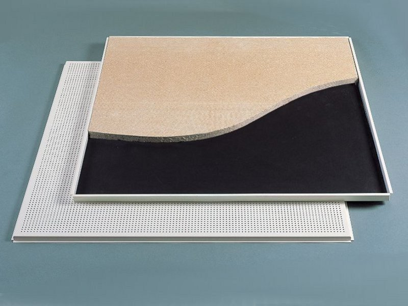 Sound absorbing ceiling tiles METAL AXAL PREMIUM by Armstrong