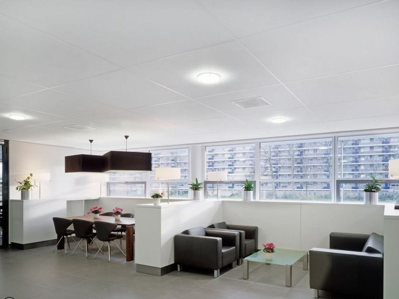 Sound absorbing ceiling tiles NEEVA by Armstrong