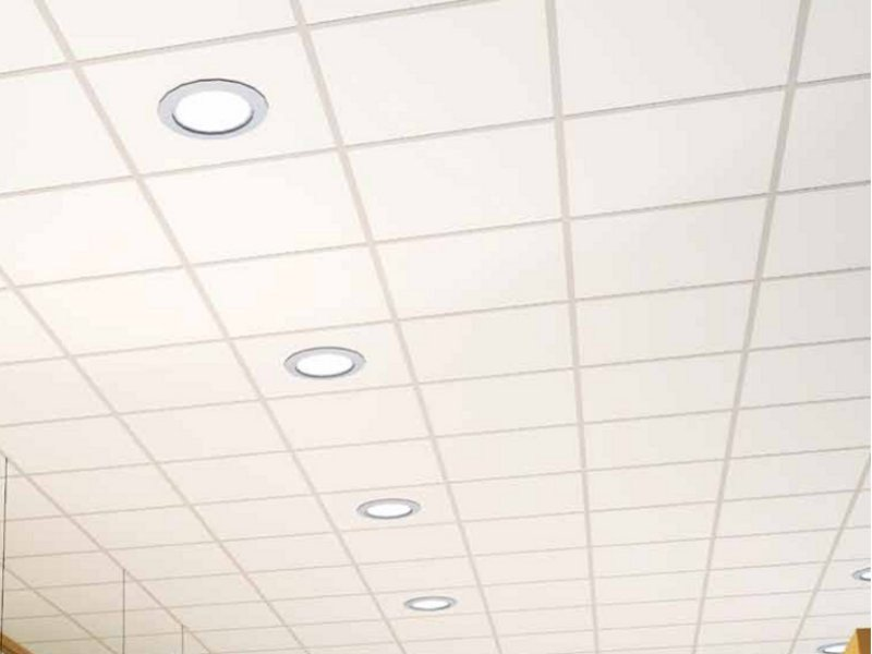 Sound absorbing ceiling tiles ALPINA OP by Armstrong