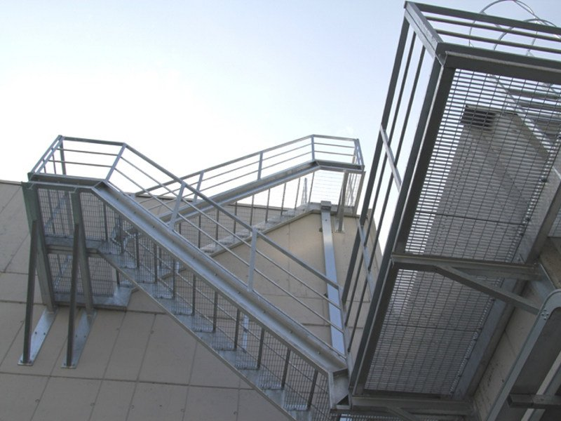 Metal fire escape staircase Safety stairs by GRIGLIATI BALDASSAR