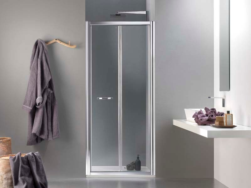 Niche glass shower cabin with folding door MORELIVE® by MEGIUS
