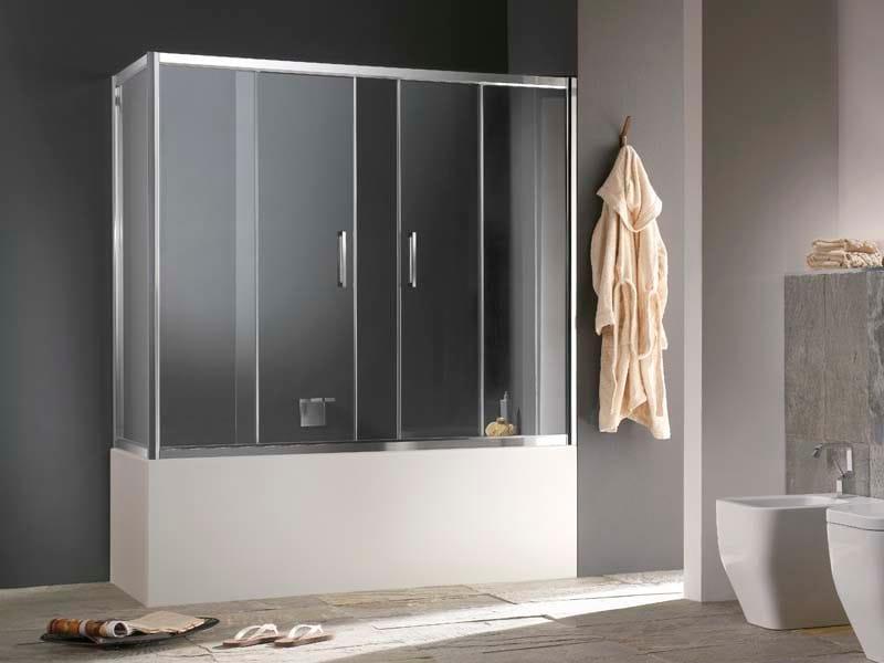 Glass bathtub wall panel MORE LIVE V+LV by MEGIUS