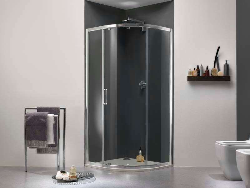 Niche glass shower cabin with sliding door MORELIVE® by MEGIUS
