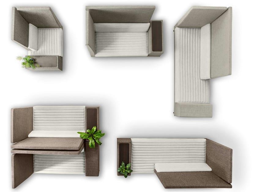 Divano Offecct Modulare Portariviste Plus Con Smallroom TKJ3F1ulc