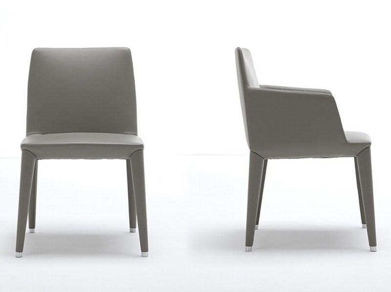 Upholstered wooden chair BELLA 376 by Tonon