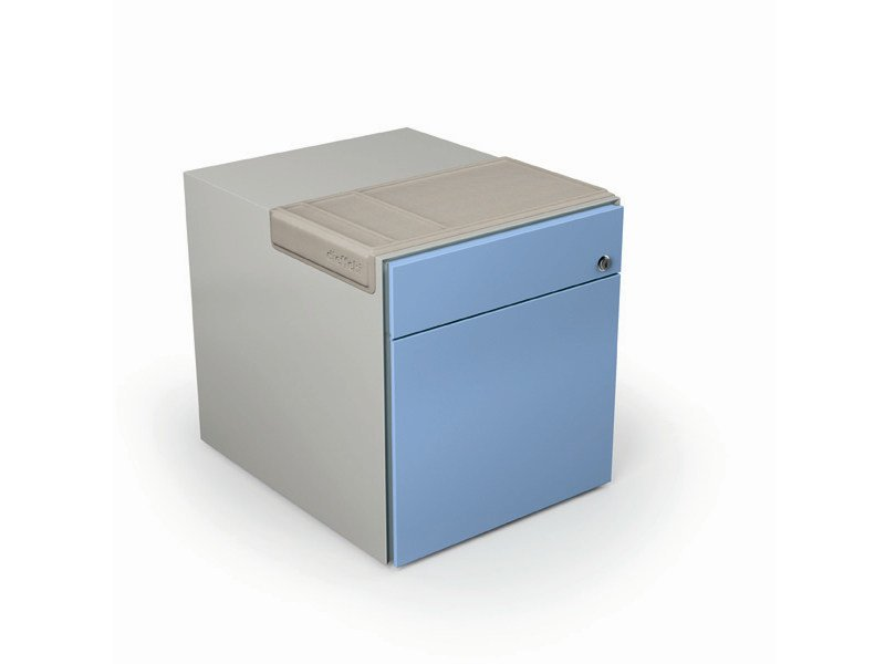 Metal office drawer unit with casters MIA PED by Dieffebi
