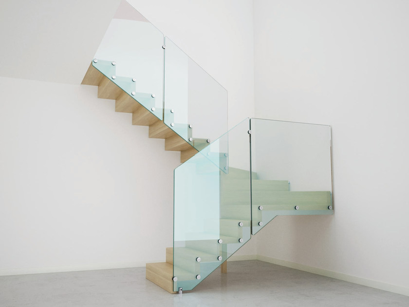 U-shaped Open staircase AIRA by RINTAL