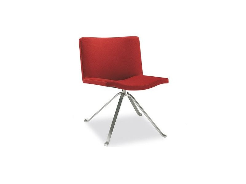 Swivel trestle-based easy chair WAVE 901 by Tonon