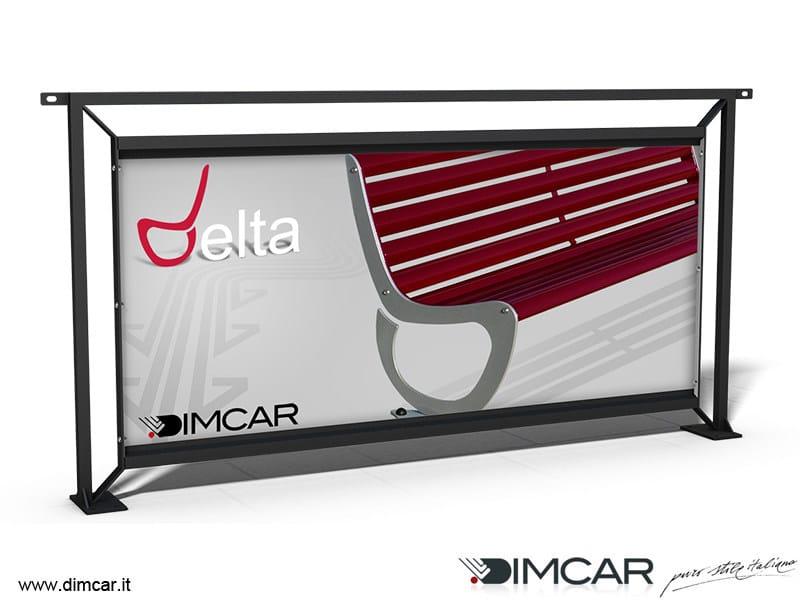 Galvanized steel pedestrian barrier / Advertising panel Recinzione Palermo Pubblicitaria by DIMCAR