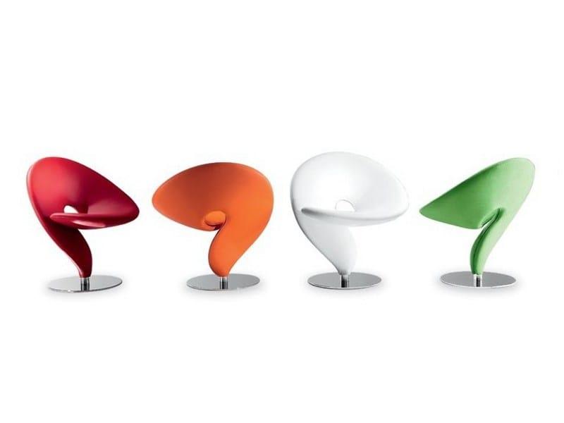 Swivel polyurethane easy chair QUESTION MARK 046 by Tonon