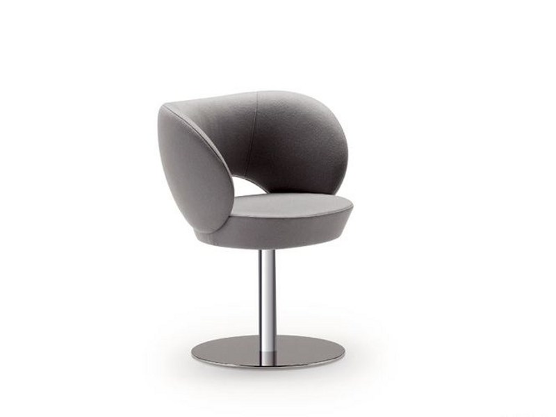 Swivel easy chair with armrests FUSION 044 by Tonon