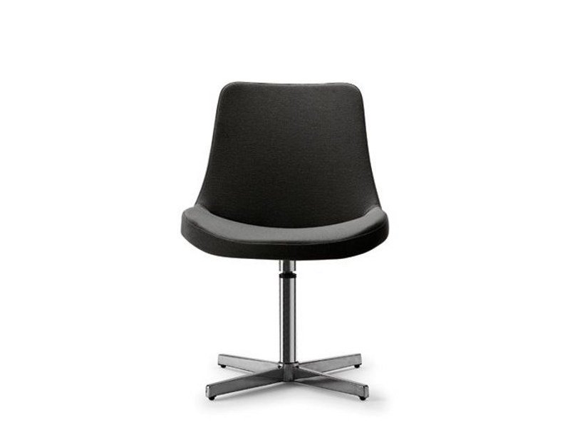 Swivel easy chair with 4-spoke base He by Tonon