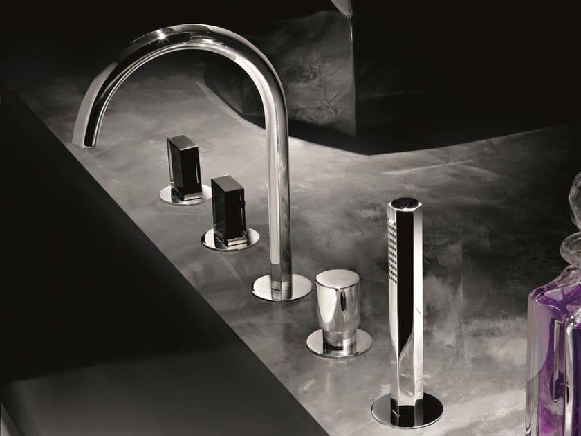 5 hole bathtub set with hand shower VENEZIA   Bathtub set by Fantini Rubinetti