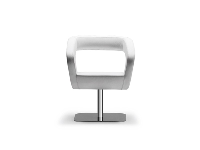 Swivel easy chair with armrests SHAPE 053 by Tonon