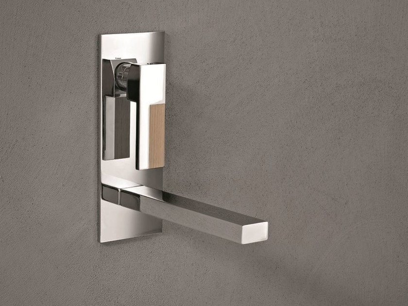 Wall-mounted washbasin mixer with plate AR/38 | Wall-mounted washbasin mixer by Fantini Rubinetti