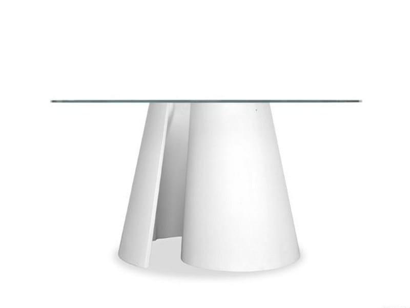 Cristalplant® table TWISTER 829 by Tonon
