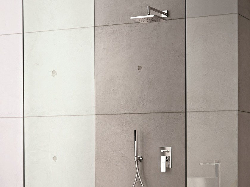 Shower mixer with diverter with hand shower AR/38   Shower mixer with diverter by Fantini Rubinetti