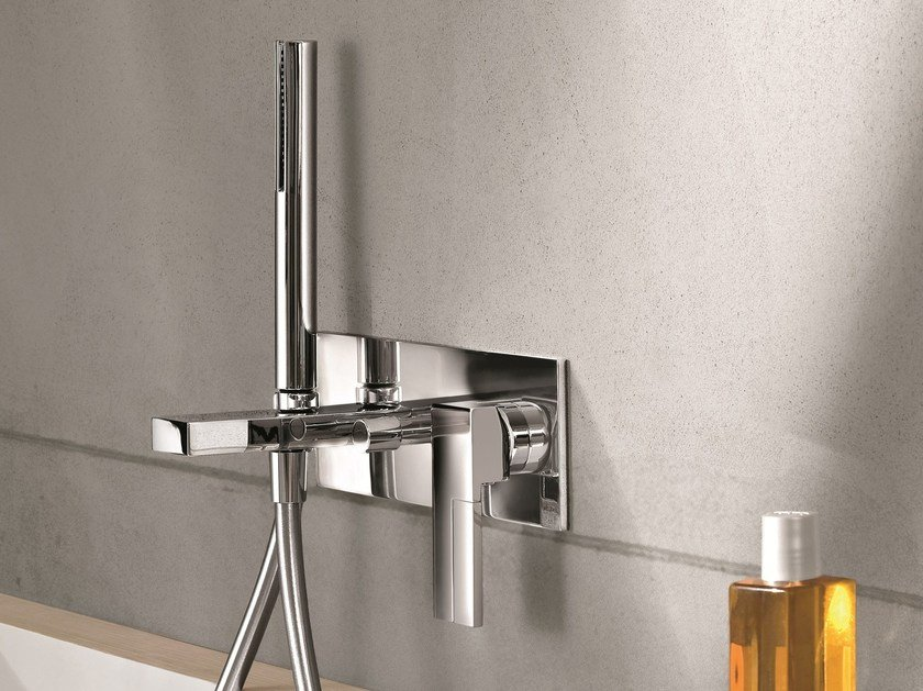 Wall-mounted bathtub mixer with diverter AR/38 | Wall-mounted bathtub mixer by Fantini Rubinetti