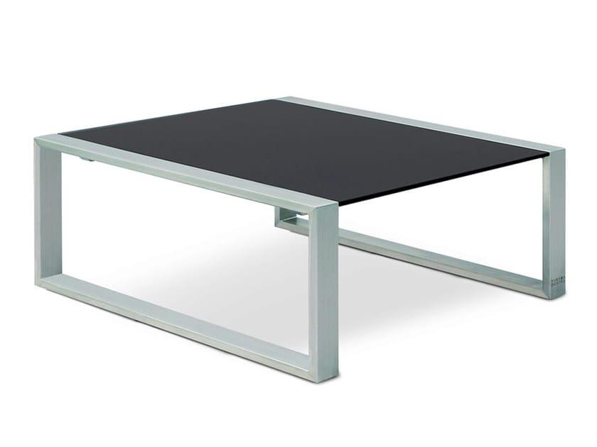Low Square garden side table MESITA 78/91 LOUNGE by FueraDentro