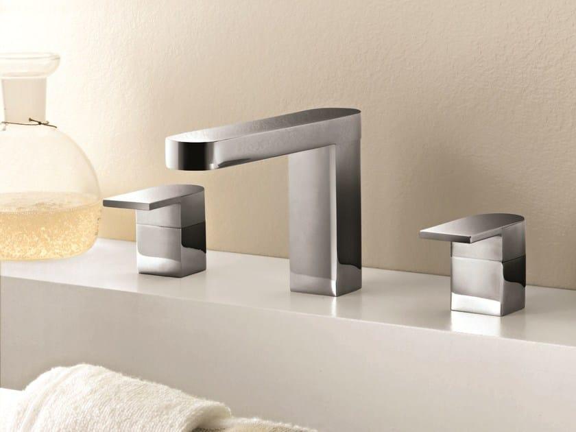 3 hole countertop washbasin tap MARE   3 hole washbasin tap by Fantini Rubinetti