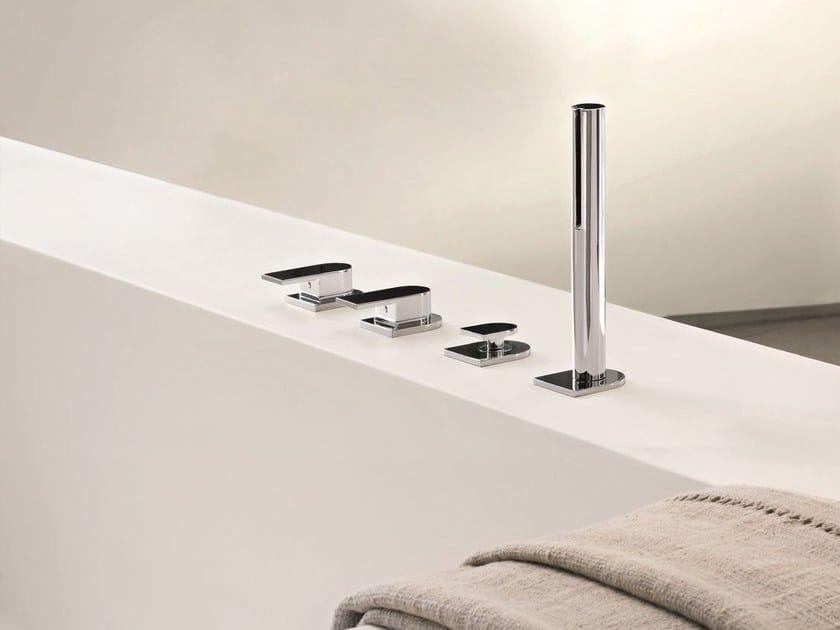 4 hole bathtub set with hand shower MARE | 4 hole bathtub set by Fantini Rubinetti