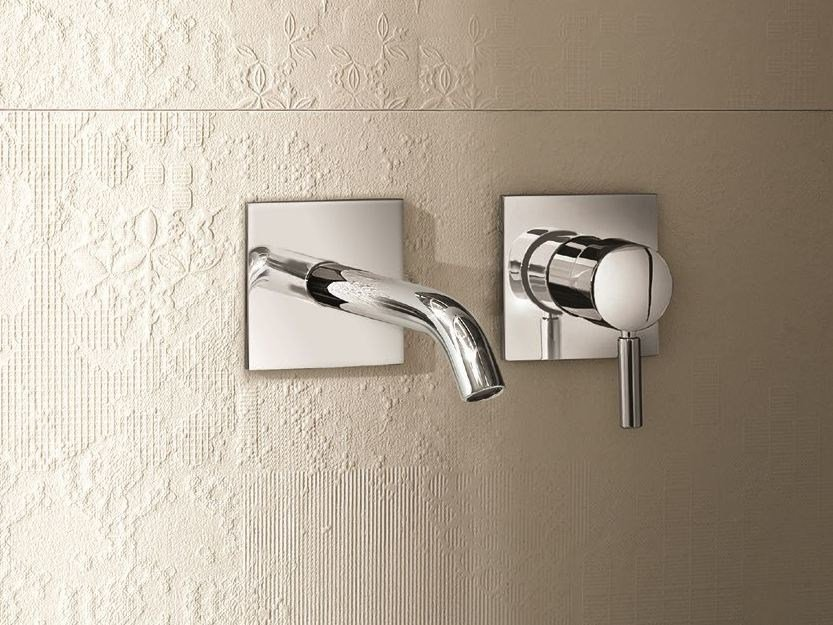 2 hole wall-mounted washbasin mixer NOSTROMO - D013A/E411B by Fantini Rubinetti