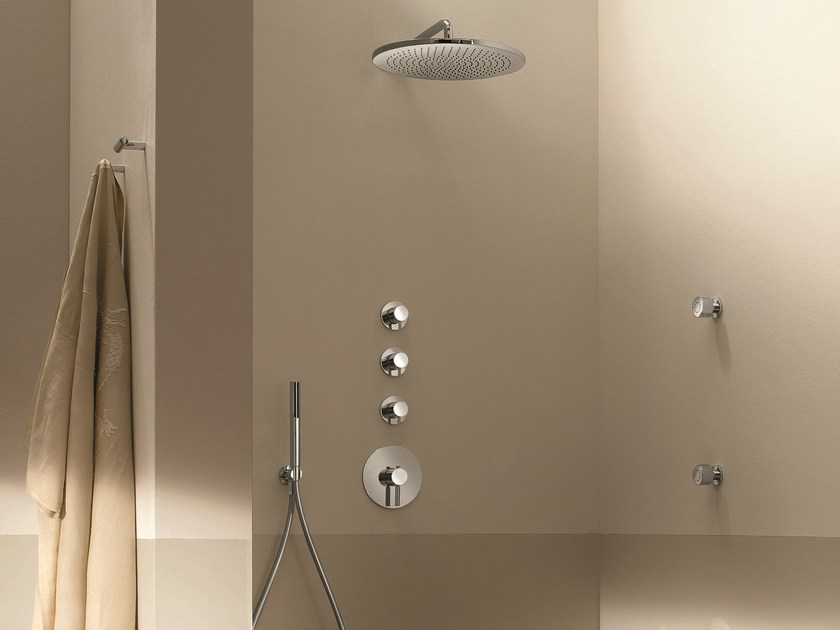 4 hole shower tap with hand shower NOSTROMO - 3903A/3803SB - 8037 by Fantini Rubinetti