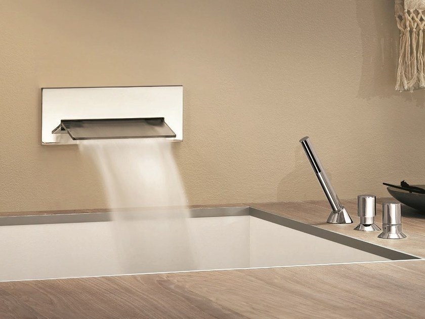 3 hole bathtub set NOSTROMO - 6701A/6701B - 1667 by Fantini Rubinetti