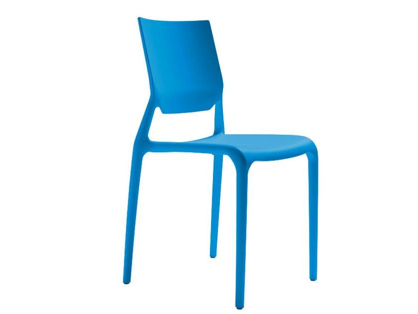Stackable polypropylene chair SIRIO by SCAB DESIGN